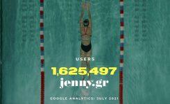 Ιστορικό ρεκόρ επισκεψιμότητας τον Ιούλιο για το jenny.gr